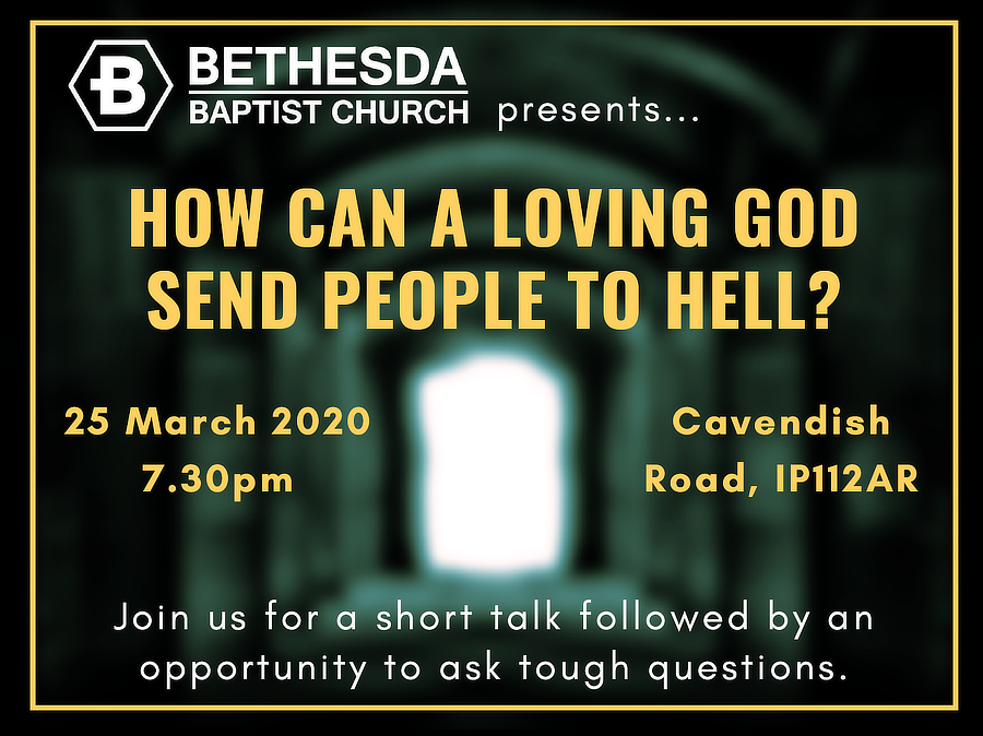 Poster for How can a loving God send people to hell?